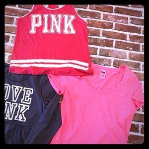 Victoria Secrets Pink medium bundle-3 items